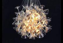 Lámparas Recicladas / Ingeniosas, originales, prácticas, únicas, creativas, etc. Lámparas que crean espacios únicos y personales, lámparas de diseño o que eres capaz de montarte. Son lámparas elaboradas con material reciclado. / by Ecomania