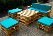 Reciclando Palets y Cajas de Madera / Los palets de madera están de moda. Seguro que no tardarás en encontrarle un nuevo uso alrededor de tu hogar. / by Ecomania
