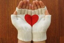 Knit Mitts Gloves