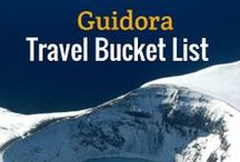 Bucket List for Travels / A bucket list of all the places and experiences we want to visit and explore in our lives. Please pin only up to 5 selected places and experiences per day. You can also get detailed information about them at www.guidora.com/blog.