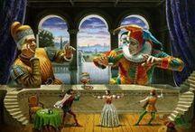 марионетки, маскарадные костюмы, маски, ростовые куклы / by Наталья Ботова