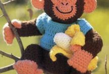 Amigurumi monkeys