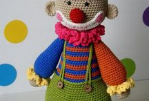 Amigurumi clowns