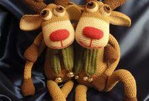 Amigurumi reindeers