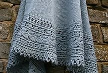Knit Shawls - With Border