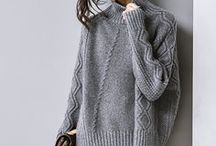 Knit Sweaters - Cabled