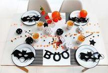 Halloween // Décoration de table / Inspiration - décoration de table pour halloween - orange et noir Art de la table