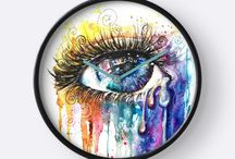 A Gift Eye Color Love / Eye Color Love bring high key attention, and conversations. Art is about swirling rainbows of overwhelming love pouring from the soul.  Fine art style illuminati eye by Artist Sophie Appleton.