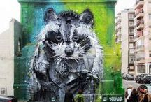 Art | Street Art - Animals / by . ✿ Zaz ✿ .
