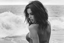 Swimwear | Monochrome / Black and white images of Swimsuits, Bikinis, Tankinis, Monokinis etc. / by . ✿ Zaz ✿ .