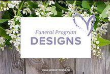 Funeral Program Templates / At Memory Press, we create beautiful, uplifting and memorable programs for funeral and memorial services - fully customised within 24 hours. Here is a selection of the designs we have available.