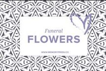 Floral Arrangements for Funerals / Ideas for floral arrangements that could be used at funeral services, wakes, and memorials. Curated by Memory Press - creators of beautiful, uplifting and memorable funeral Programs. At Memory Press, we create beautiful, uplifting and memorable programs for funeral and memorial services - fully customised within 24 hours. We collect these examples of floral tributes as a resource for our clients.