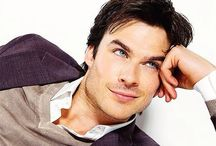 Ian Somerhalder / Blue eyes and charming and Hot as Fuc*  Damon Salvatore / by Tania Miranda