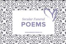 Non-Religious (Secular) Funeral Poems / A place to collect non-religious funeral poems that help guide us in our grieving. At Memory Press, we create beautiful, uplifting and memorable programs for funeral and memorial services - fully customised within 24 hours. We collect these poems about grief and loss as a resource for our clients.