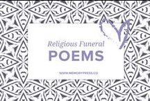 Religious Funeral Poems / A place to collect religious funeral poems that help guide us in our grieving. At Memory Press, we create beautiful, uplifting and memorable programs for funeral and memorial services - fully customised within 24 hours. We collect these poems about grief and loss as a resource for our clients.