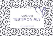 Client Testimonials / We are incredibly humbled to have received the below feedback from our past customers. We create beautiful, uplifting and memorable programs for funeral and memorial services. It is truly heartening when people choose to take the time - in the midst of their grief - to write a few words about their experience with us. We are sincerely grateful, thank you all.