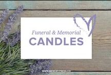 Funeral & Memorial Candles / Ideas for candles tributes that could be used at funeral services, wakes, and memorials. Curated by Memory Press - creators of beautiful, uplifting and memorable funeral Programs. At Memory Press, we create beautiful, uplifting and memorable programs for funeral and memorial services - fully customised within 24 hours. We collect these examples of floral tributes as a resource for our clients.