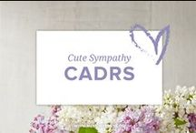 Cute Sympathy Cards / A collection of cute, contemporary sympathy cards. Curated by Memory Press, creators of beautiful, uplifting, and memorable funeral programs