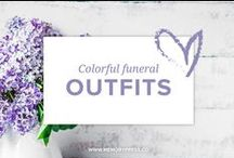 Colorful Funeral Outfits - Celebration of Life / A collection of outfit ideas for a 'celebration of life' service. You won't find any black here.... just color, love, joy & celebration. Curated by Memory Press, creators of beautiful and uplifting funeral programs.