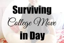 Headed to College / Ready for the College Life. Here is some ideas for moving and dorm decorating. College life here you come.
