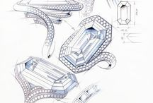 Jewelry drawing, illustration and sketch / All the sketches and the illustration that inspire me for my exams and my creations