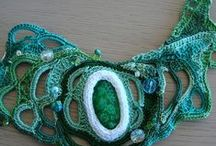 Textile jewelry / Textile and crochet statement jewelry for ideas