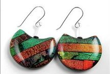 Earrings / Inspiration and ideas for hand made earrings using textiles, beads, paper, polymer clay and crochet
