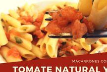Recetas de pasta / Aquí encontraras recetas cuyo protagonista es la pasta.