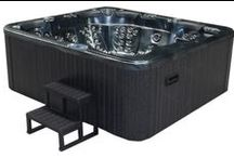 Emperor Ultimate Luxury Hot Tub Spa With Fountain & Waterfall Plus 81 Jets / 2260 x 2560 x 1000mm hot tub spa with led waterfall & fountain, BALBOA control system, complete audio system, secure insulation and stainless steel trims & free wooden steps & spa cover with each order