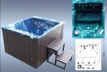 Hera 2 Seater Zspas Luxury Hot Tub Spa  / 1500 x 1200 x 900mm hot tub spa with chrome trims & free wooden steps & spa cover with each order