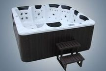 Perseus 8 seater (4 Seats & 2 Loungers) Luxury Hot Tub Spa By Zspas  / 2200 x 2200 x 950mm hot tub spa with chrome trims & free wooden steps & spa cover with each order
