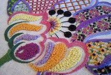 Broderi embroidery / Broderade saker och ting