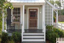 Tiny Homes / Tiny houses along with tiny bedrooms tiny appliances and tiny fixtures!