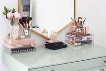 makeup storage and vanities