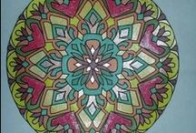 Mandale / Desene decorative, mandale, colorate cu acril si marker pentru ilustratie si manga