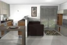 Cocina DC17 / Diseño de una cocina moderna, con dos zonas claramente separadas. Con combinación de colores neutros con madera muy utilizados en la actualidad.