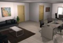 Diseño de un despacho realizado por Mob3des. / El diseño del despacho se caracteriza por los espacios abiertos y la luminosidad.