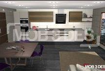Cocina de estilo moderno DCM / En esta ocasión os enseñamos un diseño para una cocina de estilo moderno.