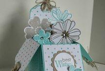 Box Cards- flat folding / Ideas for the flat folding box cards