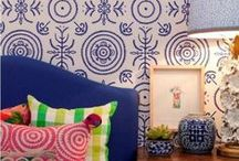 Aztec Inspired Interiors / Interiors inspiration featuring bright, bold and cheerful patterns and colours. A focus on geometric textiles and some more macabre accessories to celebrate Dia de Muertos (Day of the Dead).