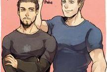 Stony / Captain America + Ironman Steve Rogers + Tony Stark