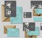 Wedding Invitation Sets / Wedding invitation sets including Wedding Invitations, Save the Date Cards, RSVP Cards, Details Cards, Thank you Cards, Wishing Well Cards, Favor / Bomboniere Tags and Invitation Belly Bands