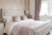 Bedroom / Dusky Pink, Grey and Copper Bedroom