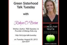 Talk Tuesday Webinar / Every Tuesday at 2pm EST, we talk with some fabulous guests on topics that will help you live a bit greener. Join us and chat with us LIVE --> http://bit.ly/gs-talk-tuesday / by Green Sisterhood