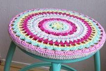Crochet  mats and rugs.