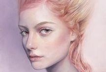 PORTRAITS: Pastel, pencil and colored pencils / Pastele, ołówki, kredki... piękne