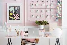 •Home•Office•Decor• / • Idéias • Inspirações • Decor • Inspiration • Decoration • • Decoração • Escritório • Home Office • Escrivaninha • Cantinho de Estudo • Workspace • Work • Office • Trabalho • Estação de Trabalho •