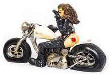Decoração / Decoração para quem gosta de carros, motos e bicicletas. Objetos vintage e retrô
