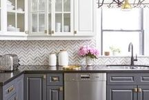 Kitchen Interior Design and Kitchen Decoration Ideas / Every person who loves to cook will surely love these kitchen interior designs! Get your next kitchen renovation inspo in this board.