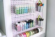 •Craft•Room•Decor• / • Craft Room • Organização • • Quarto/Sala de Artesanato • Decor •
